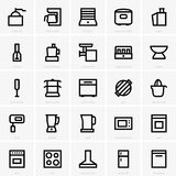 Kitchen icons Stock Images