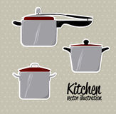 Kitchen icons Royalty Free Stock Photography