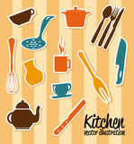 Kitchen icons Royalty Free Stock Image