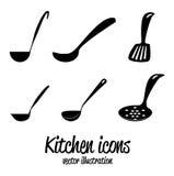 Kitchen icons Stock Photo