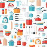 Kitchen Icons Seamless Pattern Royalty Free Stock Photography