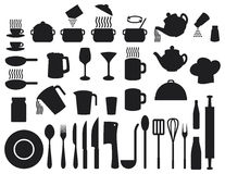 Kitchen icons set Royalty Free Stock Photos