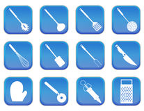 Kitchen icons 2 Royalty Free Stock Image