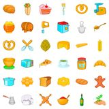 Kitchen icons set, cartoon style Royalty Free Stock Photos