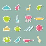 Kitchen icons set. Illustration of kitchen icons set stock illustration