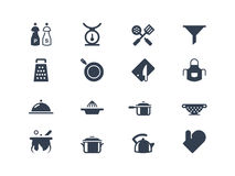 Kitchen icons. Set. Lyra series royalty free illustration