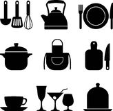 Kitchen icons Stock Photography