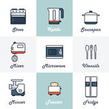 Kitchen Icons Set Stock Image