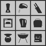Kitchen Icons. Set of Icons on a theme kitchen Royalty Free Stock Image