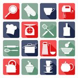 Kitchen icons set of tools. Stock Photos