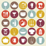 Kitchen_Icons_SET Royalty Free Stock Image