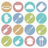 Kitchen  icons set Stock Photography