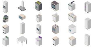 Kitchen icons. Three-dimensional illustration Kitchen icons Stock Photo