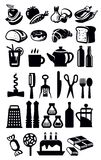 Kitchen icons Royalty Free Stock Photo