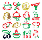 Kitchen icons Stock Image