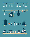 Kitchen icons, vector Stock Photography