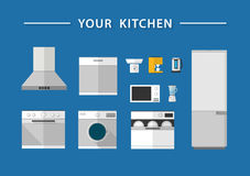 Kitchen icons, vector Royalty Free Stock Photo