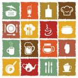 Kitchen icons Royalty Free Stock Photos