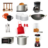 Kitchen icons. A vector illustration of kitchen icon sets Royalty Free Stock Images