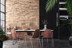 Free Kitchen In Loft, Industrial Style Royalty Free Stock Image - 161013316