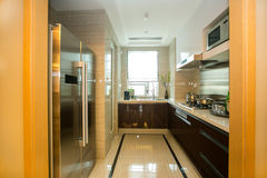 Kitchen. Indoor Environment, Home Furnishing royalty free stock photo
