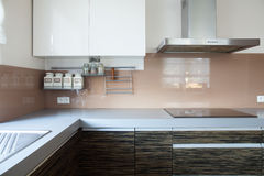 Kitchen with induction hob Royalty Free Stock Photos