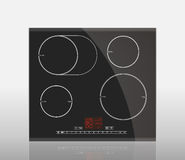 Kitchen - induction hob. Household appliances royalty free illustration