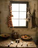 Kitchen. Inside a rural house Royalty Free Stock Image