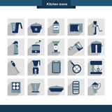 Kitchen instrument set. Collection of cooking tools. Stock Photo