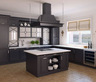 Kitchen interior. Royalty Free Stock Photography