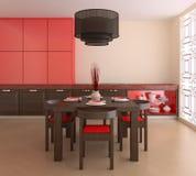 Kitchen interior. Royalty Free Stock Photos