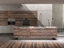 Kitchen interior. In modern style Royalty Free Illustration