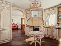 Kitchen interior Stock Images