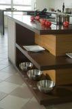 Kitchen interior. Modern delux kitchen interior  in details Stock Photos