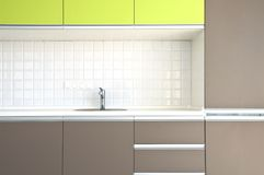 Kitchen interior. View of nice kitchen interior Royalty Free Stock Images