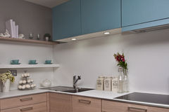 Kitchen interior royalty free stock photos