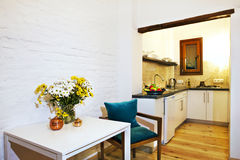 Kitchen interior royalty free stock images