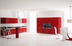 Kitchen interior 3d Stock Photography