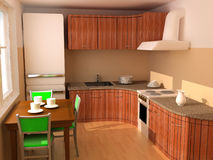 Kitchen an interior 3d Royalty Free Stock Images