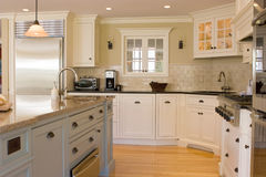 Kitchen Interior. Full View Of A Modern Interior Kitchen Royalty Free Stock Photo