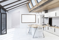 Kitchen interior with balcony door Stock Image