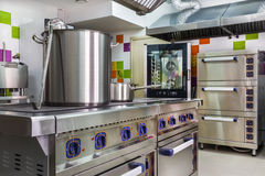 Kitchen interior in child care Stock Images