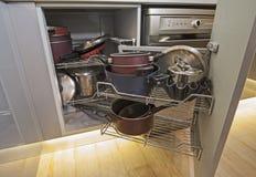 Kitchen interior design corner cupboard detail Stock Image