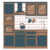 Kitchen interior design. Stock Photos