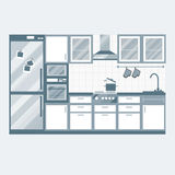 Kitchen interior design. Stock Photo