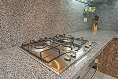 Kitchen interior design of luxury apartment Stock Images