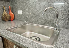 Kitchen Interior Design Of Luxury Apartment Royalty Free Stock Image