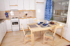 Kitchen interior detail stock photography