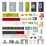 Kitchen Interior Elements Collection Royalty Free Stock Photography
