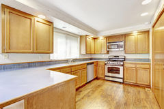 Kitchen interior in empty house Stock Image